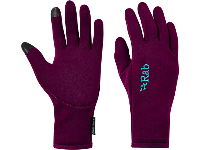 Rab Power Stretch Contact Gloves Women, berry
